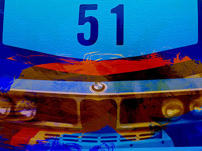 Watercolor Photograph - Bmw Racing Colors by Naxart Studio