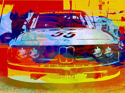 Watercolor Photograph - Bmw Racing by Naxart Studio