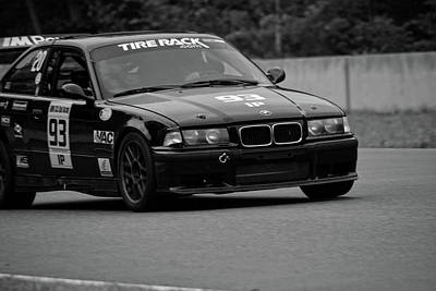 Photograph - Bmw Tire Rack 93 On Track by Mike Martin