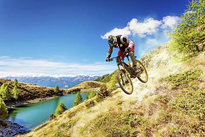 Extreme Sport Digital Art - BMX by Maye Loeser