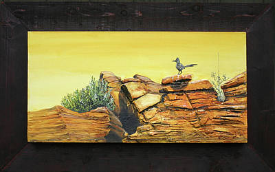 Roadrunner Mixed Media - Bneep Bneep by Gregory Peters