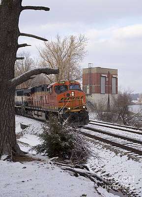 Photograph - Bnsf 6338 - Train Photo by Jane Eleanor Nicholas