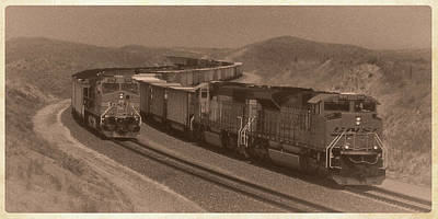 Photograph - Bnsf Coal Trains by Garry McMichael