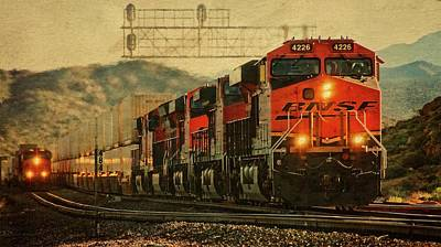 Photograph - Bnsf Ground Shaker by Flying Z Photography by Zayne Diamond