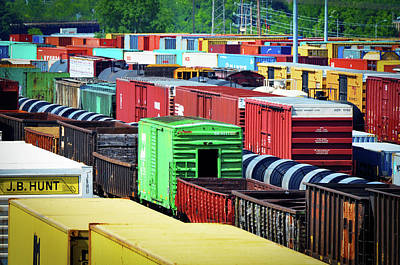 Photograph - Bnsf Lindenwood Yard by Matthew Chapman