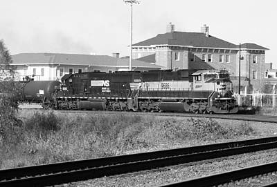 Photograph - Bnsf Locomotive On Ns 192 Bw by Joseph C Hinson Photography