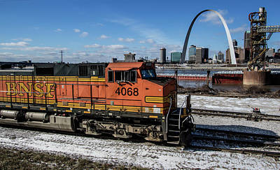 Photograph - Bnsf Locomotive Passing By The Arcj by Garry McMichael