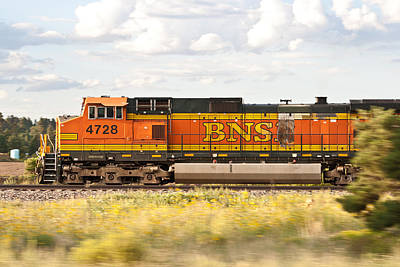 Photograph - Bnsf Railway Engine by Robert J Caputo