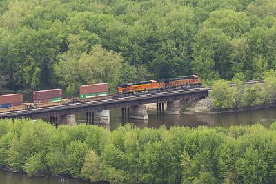 Wyalusing Photograph - Bnsf Train 6686 C by John Brueske