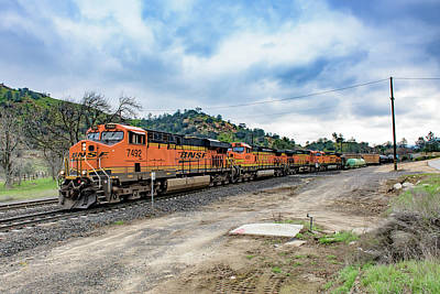 Photograph - Bnsf7492 1 by Jim Thompson