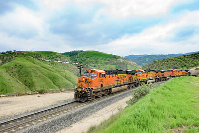 Photograph - Bnsf7492 3 by Jim Thompson