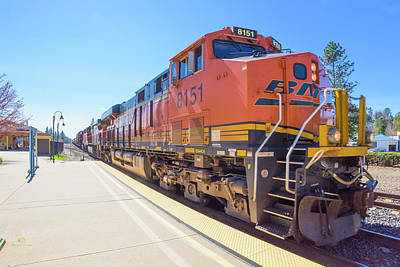 Photograph - Bnsf8151 2 by Jim Thompson
