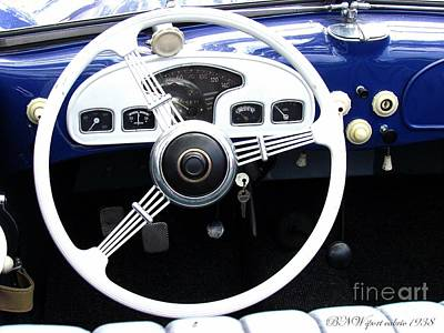 Photograph - Bnw Sport Cabrio  by Alexa Szlavics