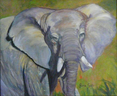 Bo Bo The Elephant Art Print
