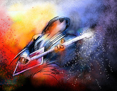 Music Paintings - Bo Diddley by Miki De Goodaboom