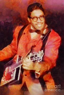 Music Royalty-Free and Rights-Managed Images - Bo Diddley, Music Legend by Sarah Kirk