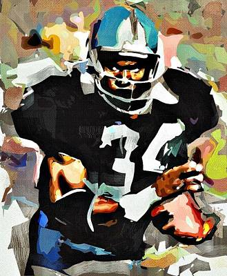 Bos Bos Digital Art - Bo Jackson by Bob Smerecki