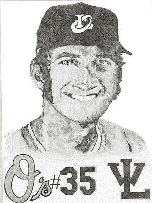 Baltimore Orioles Drawing - Bo by Mike Pedone