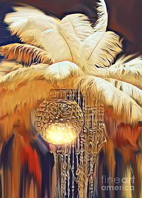 Digital Art - Boa And Crystal Lights by Gayle Price Thomas