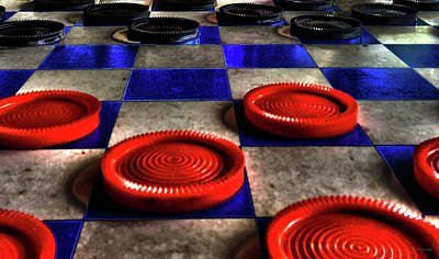 Mixed Media - Board Games Checker Board by Lesa Fine