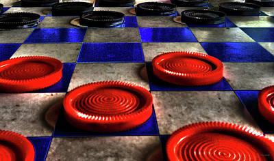 Mixed Media - Board Games Checker Board by Lesa Fine