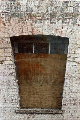 Photograph - Boarded Up Window by Nareeta Martin