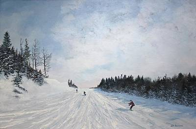 Painting - Boarder Line by Ken Ahlering