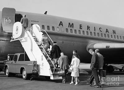 Boarding American Airlines Print by H. Armstrong Roberts/ClassicStock
