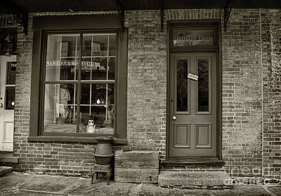 Photograph - Boarding House Open Sepia by Karen Adams