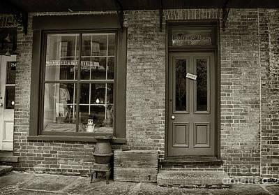 Photograph - Boarding House Open Sepia by Karen Adams