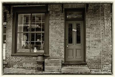 Photograph - Boarding House Sepia With Border by Karen Adams