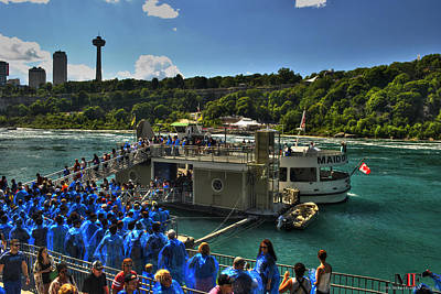 Fall Photograph - Boarding The Maid Of The Mist 2016  by Michael Frank Jr