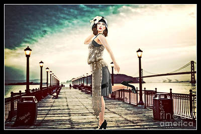Boardwalk 1920 Art Print