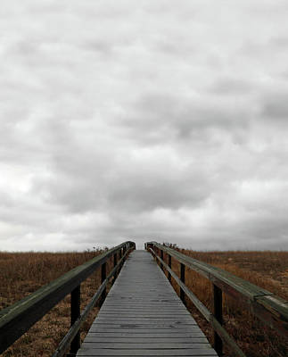 Photograph - Boardwalk And Ominous Sky by Brooke T Ryan