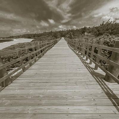 Wall Art - Photograph - Boardwalk At Jobos Beach by Giovanni Arroyo