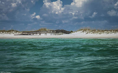 Photograph - Boardwalk At Shell Island  by Debra Forand