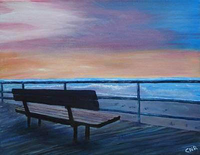 Boardwalk At Sunrise Art Print