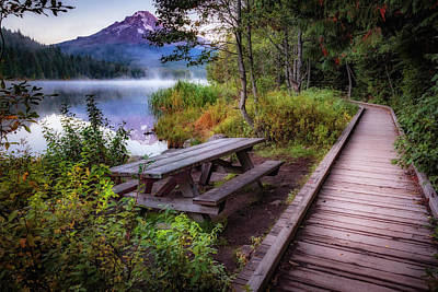 Photograph - Boardwalk At Trillium Lake by Cat Connor