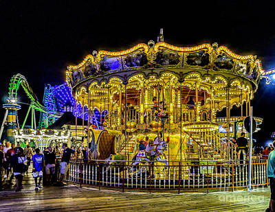 Photograph - Boardwalk Carousel by Nick Zelinsky