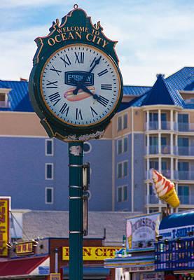 Bath Time - Boardwalk Clock by Brian Manfra