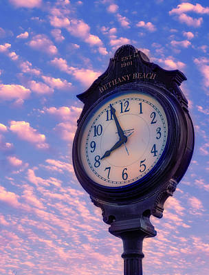 Photograph - Boardwalk Clock by David Kay