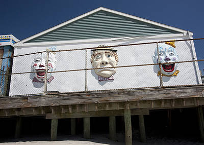 Photograph - Boardwalk Clowns by Mary Haber