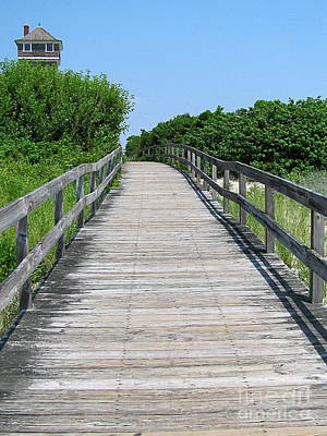 By Colleen Kammerer Photograph - Boardwalk by Colleen Kammerer