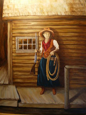 Painting - Boardwalk Cowgirl by Sharon Tabor