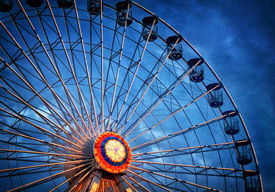 Photograph - Boardwalk Ferris Wheel At Dusk by Carolyn Derstine