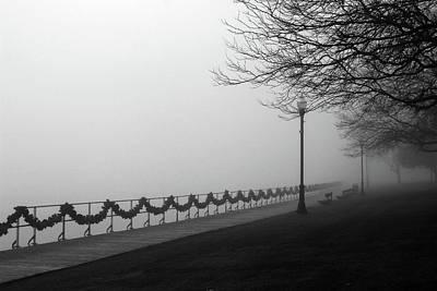 Photograph - Boardwalk Fog 7 by Mary Bedy