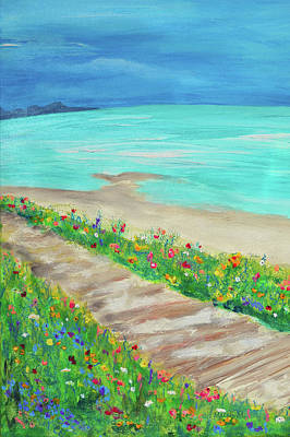 Painting - Boardwalk In Carmel by Haleh Mahbod