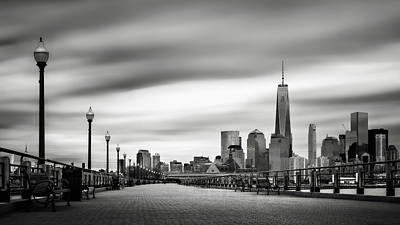 Photograph - Boardwalk Into The City by Eduard Moldoveanu