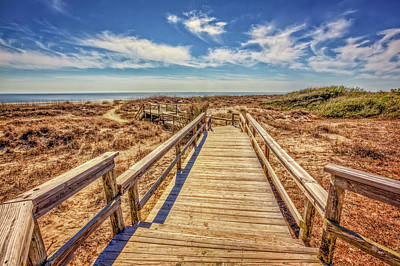 Photograph - Boardwalk Into The Sand Dunes by Debra and Dave Vanderlaan
