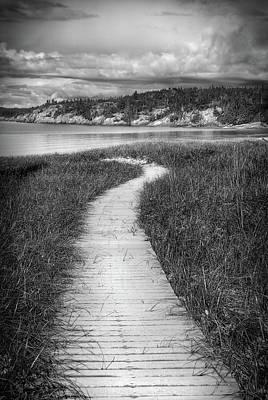 Photograph - Boardwalk, Lake Superior by Joshua Hakin